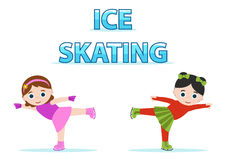 Ice skaters Royalty Free Stock Photography
