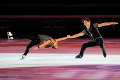 Ice skaters Nicole Della Monica & Matteo Guarise Royalty Free Stock Photos