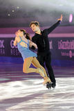 Ice skaters Nicole della Monica & Matteo Guarise Stock Images