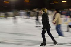 Ice skaters in rink