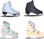 Ice skates. Vector work Royalty Free Stock Photography