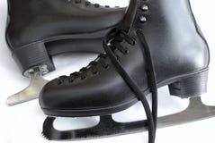 Ice skates. Pair of black ice skates Royalty Free Stock Photos