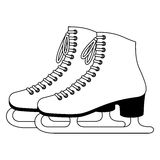 Ice skates. Illustration of Ice skate on white background Stock Photos