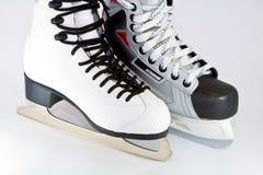 Ice skates. White girl ice skates on white background Stock Photography