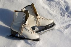 Ice skates. Royalty Free Stock Photos