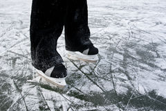 Ice skates background. Stock Photos