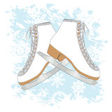 Ice skates background Royalty Free Stock Images