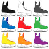 Ice Skates in Different Colours Stock Images