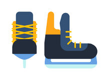 Ice skates  illustration. Royalty Free Stock Image