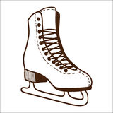 Ice skates isolated on white. Royalty Free Stock Photo