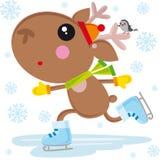 Ice skates reindeer Stock Image
