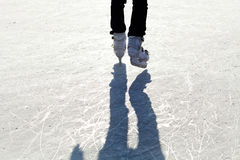 Ice Skates. On the ice with shaddow Royalty Free Stock Images