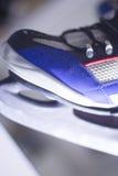 Ice skates in skate store Stock Photo
