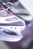 Ice skates in skate store Royalty Free Stock Photography