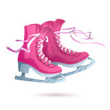 Ice skates vector  on white background Stock Images