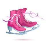Ice skates vector  on white background Stock Images