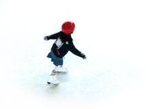 Ice skating 1. Ice skating girl royalty free stock photos