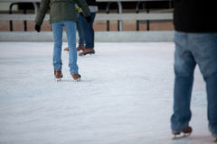 Ice Skating. People ice skating in Chicago Stock Photos