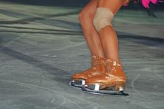 Ice skating. An ice skating particular pic stock images