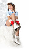 Ice skating. Royalty Free Stock Images