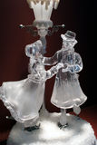 Ice skating. Glass couple ice skating Royalty Free Stock Photos