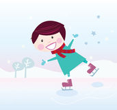 Ice skating boy Royalty Free Stock Photos
