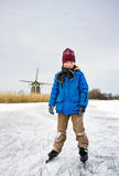 Ice Skating boy Royalty Free Stock Images