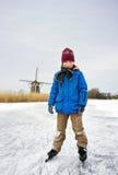 Ice Skating boy Royalty Free Stock Images