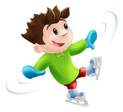 Ice skating cartoon Stock Photography