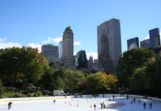 Ice skating in Central Park Royalty Free Stock Image