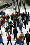 Ice skating in Central Park Royalty Free Stock Photography