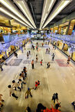 Ice skating at Central World Stock Images