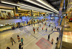 Ice skating at Central World Royalty Free Stock Image