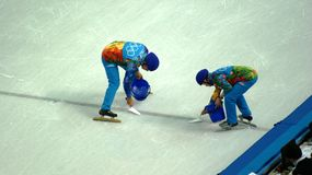 Ice skating competition on Winter Olympic Games in Sochi Stock Images