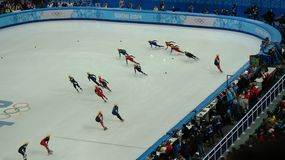 Ice skating competition on Winter Olympic Games in Sochi Stock Photo