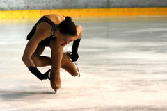 Ice skating competitor Stock Image