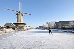 Ice skating in the countryside from Stock Image