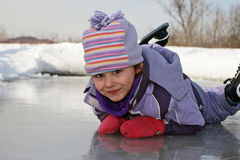 Ice skating girl Royalty Free Stock Photos