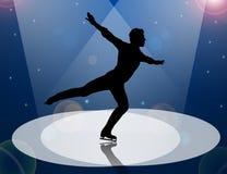 Ice Skating man in Spotlight Royalty Free Stock Image