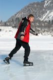 Ice Skating on mountain like Royalty Free Stock Photo
