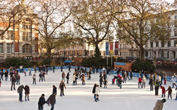 Ice Skating at the Natural History Museum Royalty Free Stock Photo