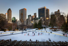 Ice skating in New York City Stock Photography
