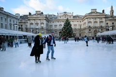 Ice skating Royalty Free Stock Photography