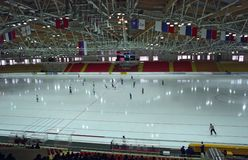 Ice skating rink Royalty Free Stock Photo