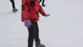 Ice skating rink stock video footage