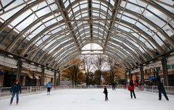 Ice Skating Rink Opening Weekend Virginia Royalty Free Stock Photos