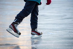 Ice skating. At the rink in winter Royalty Free Stock Photography