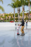 Ice skating in San Diego Stock Image
