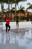 Ice skating in San Diego Stock Photos