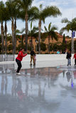 Ice skating in San Diego Royalty Free Stock Images